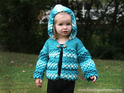 Crocodile Stitch Hooded Cardigan (baby & toddlers)
