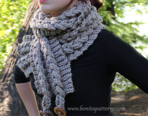 Knit Look Braided Scarf Bonita Patterns