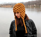 Crocodile Earflap Hat (Adult)