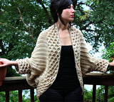 Cardigan Au Point Crocodile - Bonita Patterns