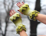 Leafy Fingerless Gloves