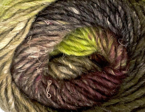 Noro - Silk Garden - Browns Ecru Lemon Lime Maroon 387