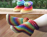 Duo Knit-Look Braid Stitch Boots - Bonita Patterns