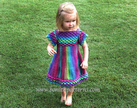 Crocodile Stitch Girly Dress - Bonita Patterns