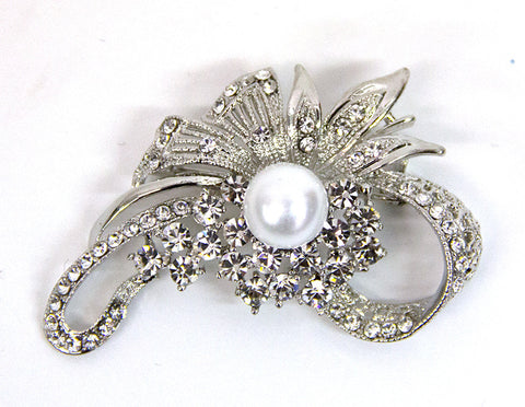 Silver Ribbon With White Pearl