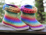 Knit- Look Braid Stitch Boots (Adult Sizes) - Bonita Patterns