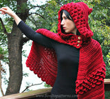 Trio Crocodile Stitch Hood & Hooded Cape