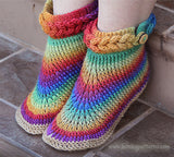 Duo Knit-Look Braid Stitch Boots