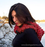 Crocodile Stitch Hooded Cowl - Bonita Patterns
