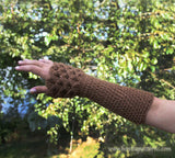 Dragon Gloves Crocodile Stitch Wristwarmers - Bonita Patterns