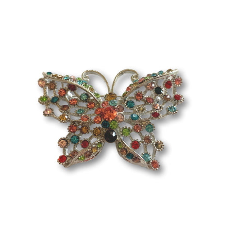 Multicolored Butterfly Brooch - Bonita Patterns