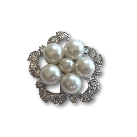 Silver Pearl Cameo Brooch - Bonita Patterns