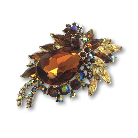 Amber Drop Gem Brooch - Bonita Patterns