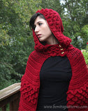 Crocodile Hooded Cape