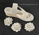 Sand Flower Sandals (Adult) - Bonita Patterns