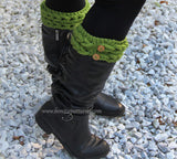 Knit-Look Braid Stitch Boot Toppers