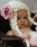 Crocodile Earflap Hat (Baby) - Bonita Patterns