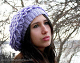 Crocodile Slouchy Beret - Bonita Patterns