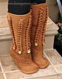 Knit- Look Braid Stitch Long Boots (Adult Sizes)