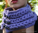 Knit- Look Braid Stitch Cowl - Bonita Patterns