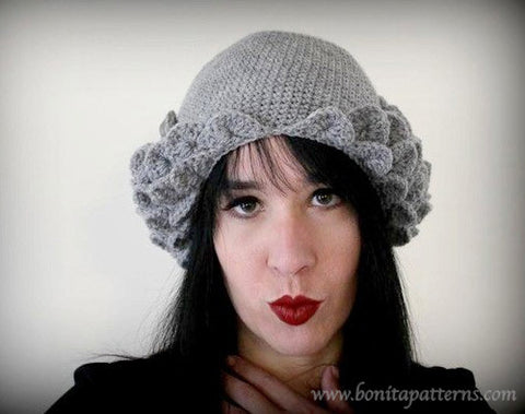 Crocodile Flapper Hat - Bonita Patterns