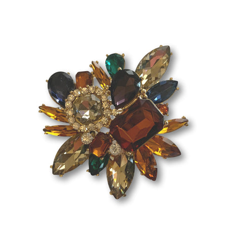 Multicolor Gems Brooch - Bonita Patterns
