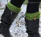 Knit-Look Braid Stitch Boot Toppers - Bonita Patterns