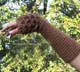 Dragon Gloves Crocodile Stitch Wristwarmers