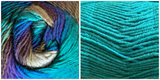 (NEW) TURQUOISE  + ALL BLUES - Embossed Natura Shawl KIT