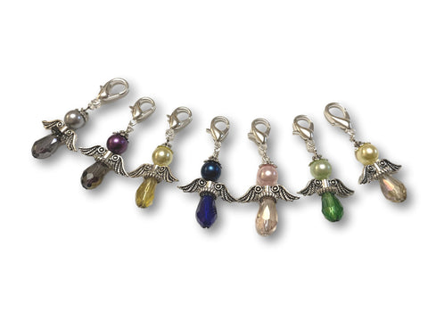 Angelical CA Crystal - #012 Set of 7 Stitch Markers - Bonita Patterns
