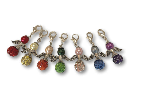 Angelical CA Crystal - #015 Set of 7 Stitch Markers - Bonita Patterns