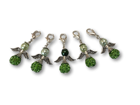Angelical Crystal CB - #016 Set of 5 Stitch Markers - Bonita Patterns