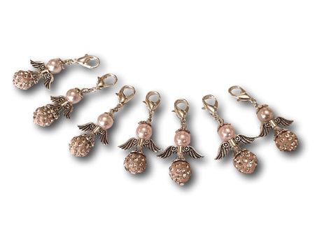 Angelical Crystal CB - #015 Set of 7 Stitch Markers - Bonita Patterns