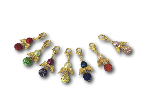Angelical Crystal CB - #080G Set of 7 Stitch Markers - Bonita Patterns