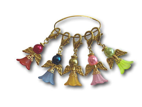 Angelical M2 - #017 Set of 5 Stitch Markers