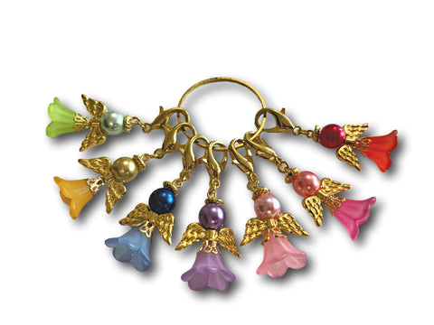 Angelical M2 - #014 Set of 7 Stitch Markers - Bonita Patterns