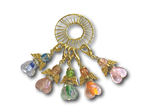 Angelical M3 - #055 Set of 5 Stitch Markers - Bonita Patterns