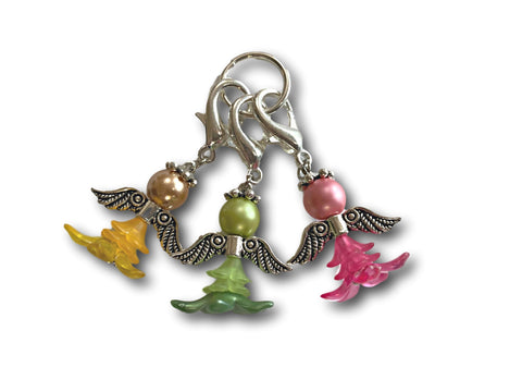 Angelical M5 - #006 Set of 3 Stitch Markers - Bonita Patterns