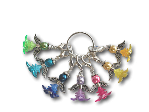 Angelical M5 - #001 Set of 7 Stitch Markers - Bonita Patterns