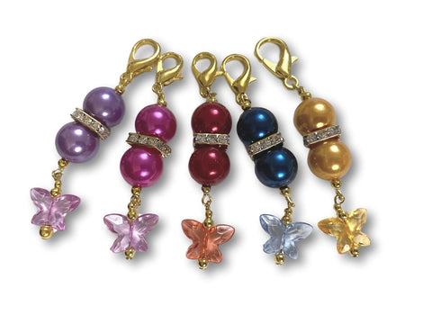 Butterfly B1 - #020 Set of 5 Stitch Markers
