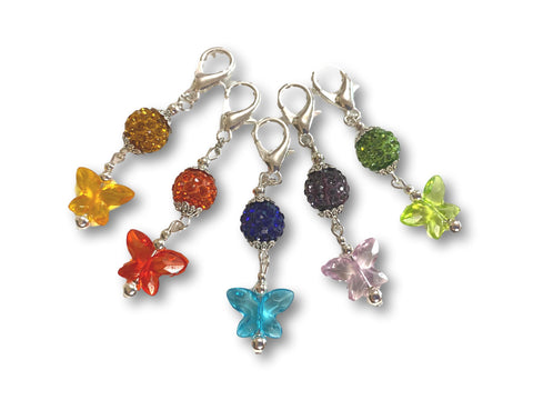 Butterfly B1 - #061 Set of 5 Stitch Markers
