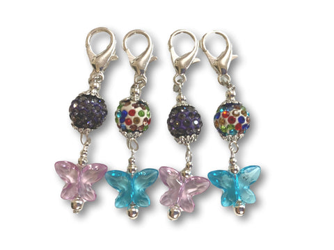 Butterfly B1 - #062 Set of 4 Stitch Markers