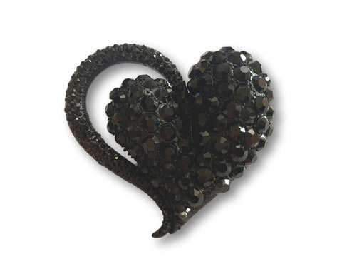Large Black Heart Brooch - Bonita Patterns