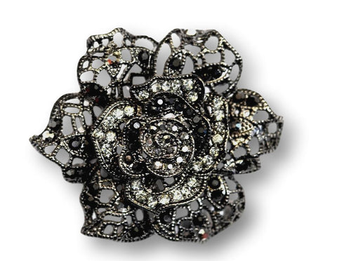 Black Rose brooch - Bonita Patterns