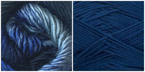 NAVY + BLUE SKIES - Embossed Phoenix Vortex Shawl KIT