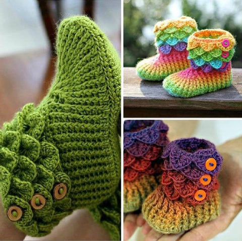 Trio Crocodile Stitch Boot Crochet Patterns Pf Bonita Patterns