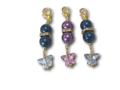 Butterfly B1 - #003 Set of 3 Stitch Markers - Bonita Patterns