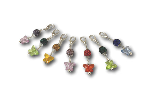 Butterfly B1 - #053 Set of 7 Stitch Markers - Bonita Patterns