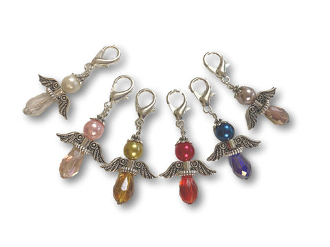 Angelical CA Crystal - #014 Set of 6 Stitch Markers