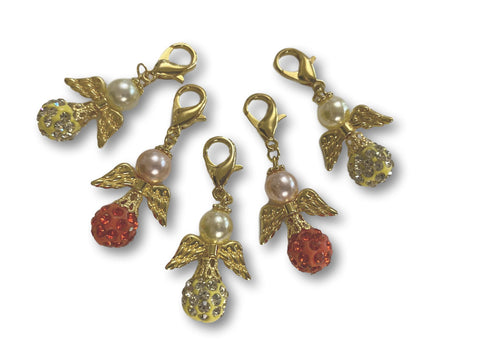 Angelical CB Crystal - #081g Set of 5 Stitch Markers